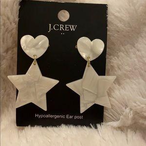 J. Crew Factory Tortoise Heart Star Drop Earrings